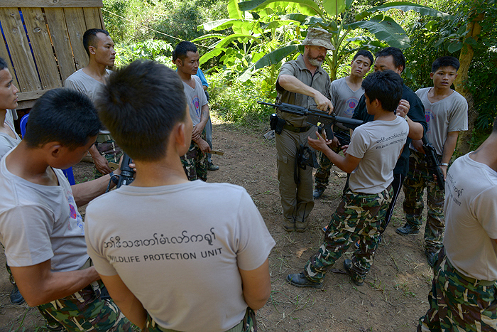 Wildlife protection unit tactical training, Myanmar. Copyright 2015 © KWCI/Adam Oswell